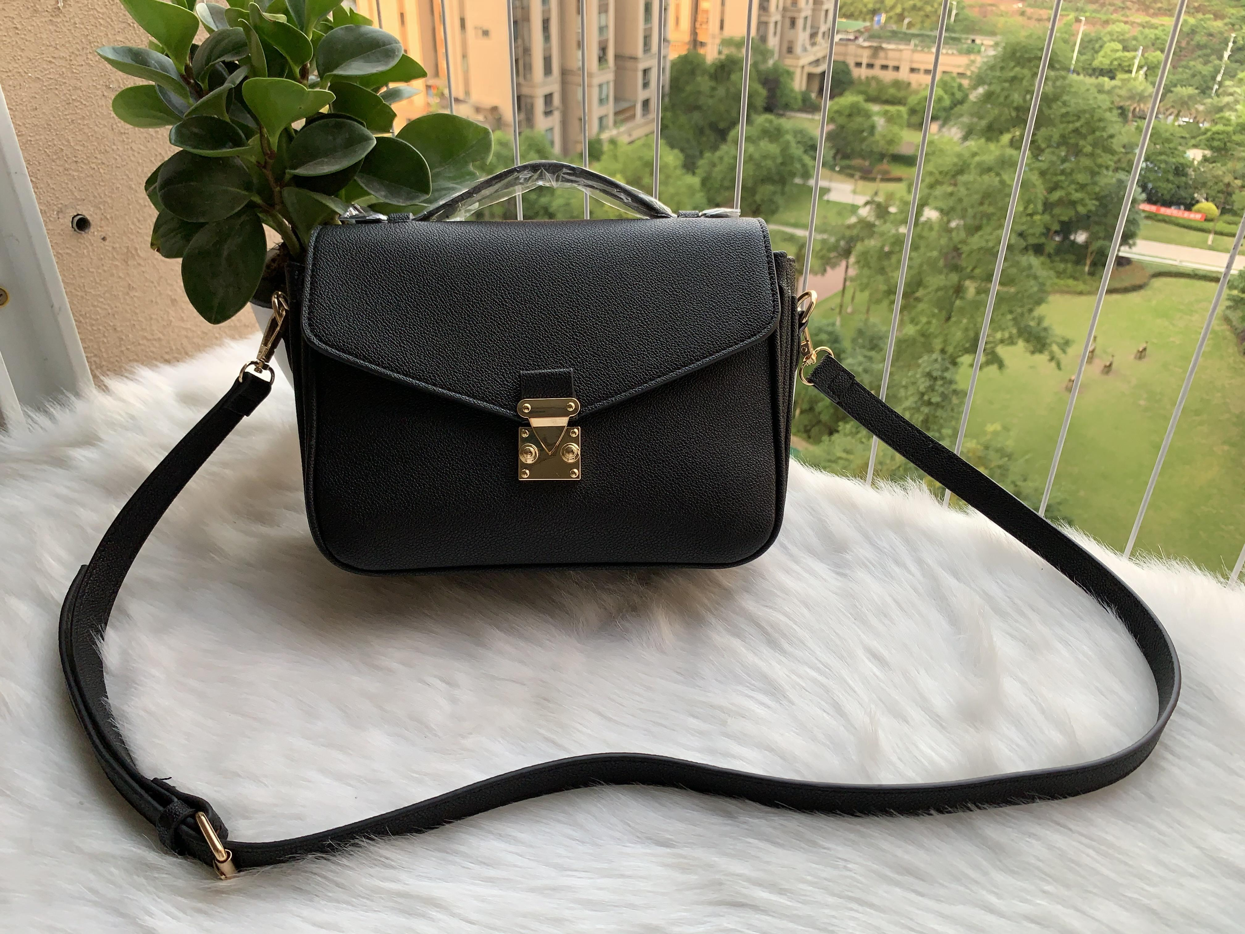 2019 TOP Moda Negro maquillaje bolso de la cadena del bolso del partido del bolso de hombro famoso Marmont mujeres del diseñador Bolsas gratuito shiopping