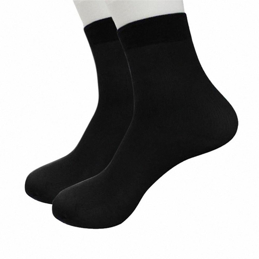 1Pairs Bamboo Fiber Sock Comfortable Stripe Soft Thin Cleaning Short Silk Stockings Men Socks NBZ0#