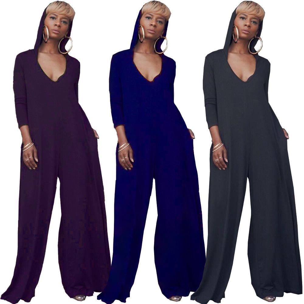 2020 새로운 의류 저렴한 중국 도매 유럽과 미국의 여성 점프 슈트 장난 꾸러기 유행 단색 긴 소매 옷을 빌려