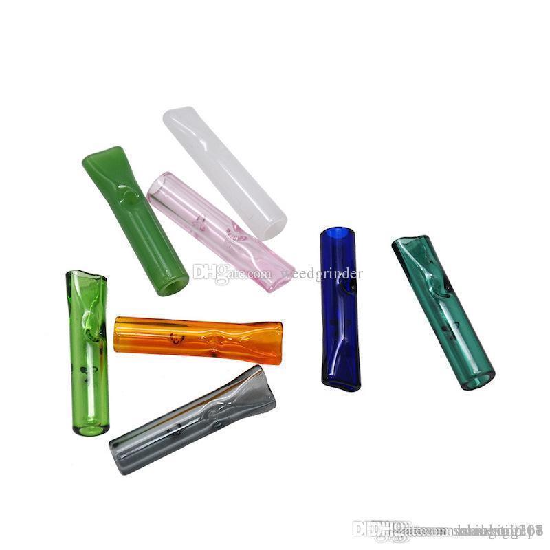 Pyrex épais fumeurs Verre de support d'embout de filtre en verre du tube de filtre à cigarette jetable pour RAW tabac sec Herb papier roulant