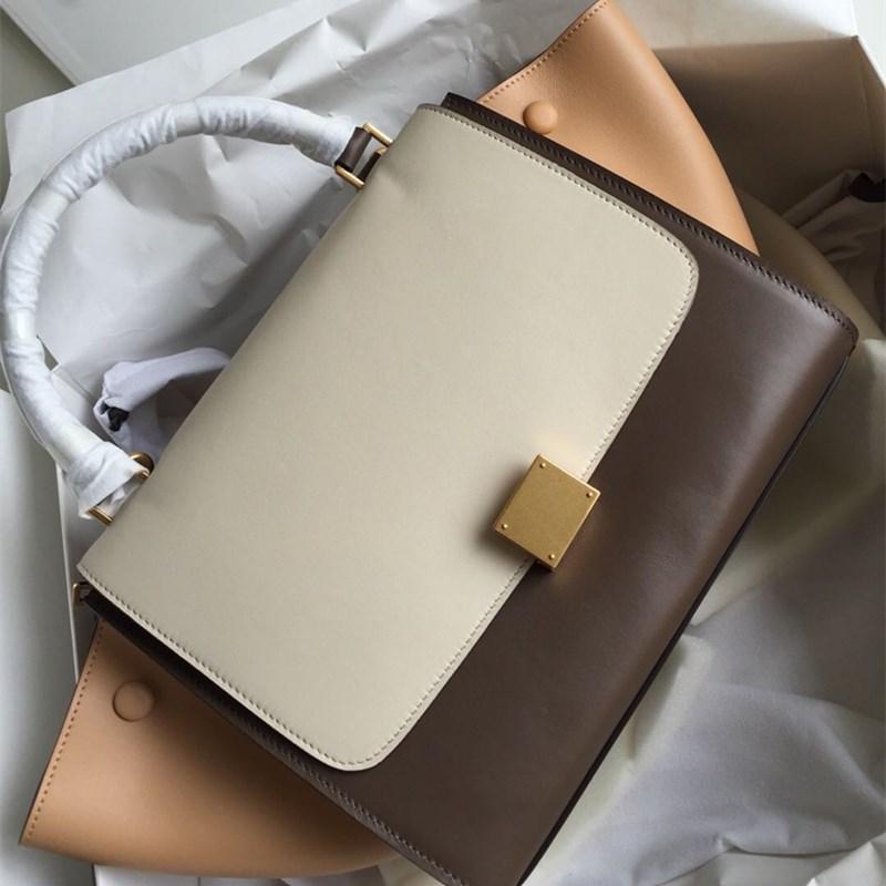 saco de balanço saco de compras da senhora nova com alça de fecho de ouro de ombro removível abrigo aleta para fechamento com zíper com zíper saco externo