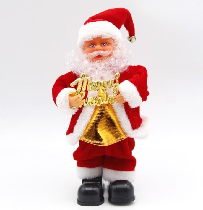 5 Стили Электрический Санта-Клауса игрушка Рождество Электрические Танцы Музыка Санта-Клаус Рождество куклы для детей партии Новогодние украшения GGA3561-4