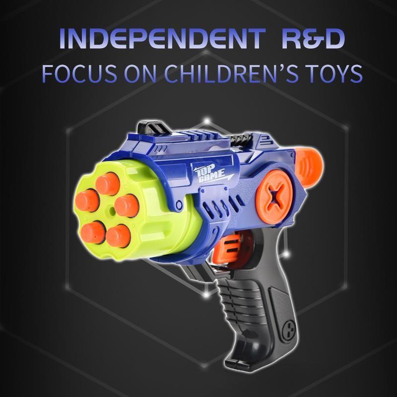 Bambini pistola giocattolo di tiro di plastica pistola Outdoor Fun Toy manuale morbido proiettile Blaster per i ragazzi Bambini Sport Gifts 02