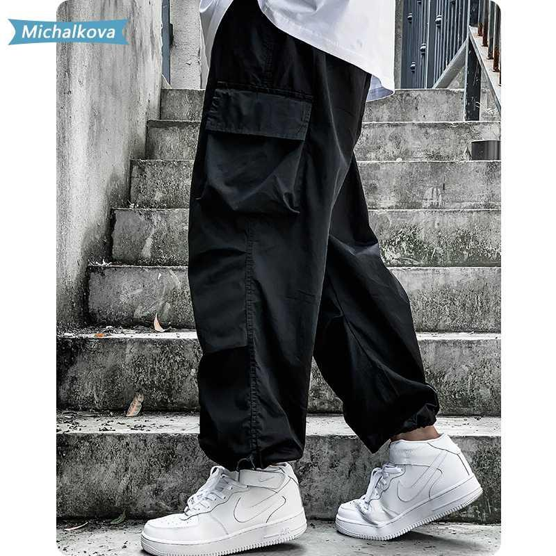 Pantalones para hombres Mujeres / Hombre Jogger Streetwear Tactics Moda Moda Hip Hop Pantalones de color sólido para hombre Sudor Michalkova