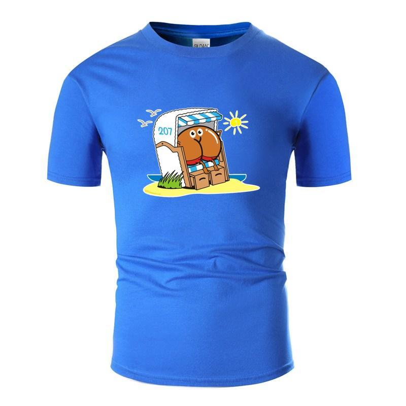 Солнечный свет Assmex Beach Chair T Рубашка мужских вокруг шеи Основной Твердых комичной футболки 2019 Plus Размера S-5XL Топ Tee