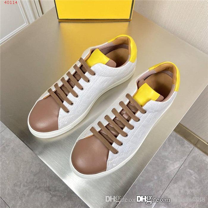 Erkek klasik gündelik spor ayakkabı, düz dipli baskılı deri yüzeyi renk eşleştirme spor ayakkabılar orijinal kutusunda tahta koşu ayakkabıları