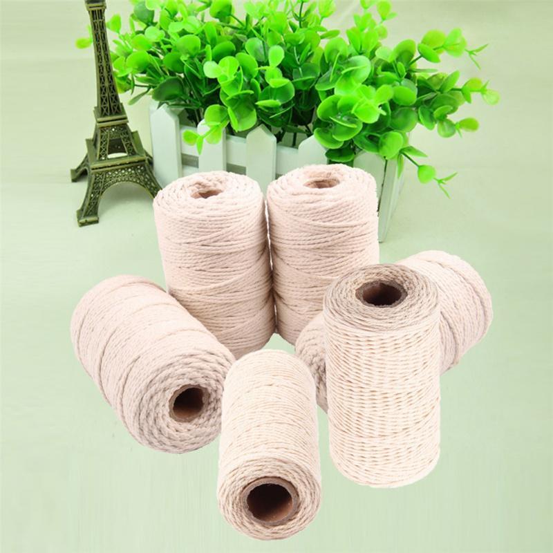 50/100 / 200m filo della corda del cotone del partito di nozze confezione regalo cavi Filo fai da te Scrapbooking Fioristi Craft Decor