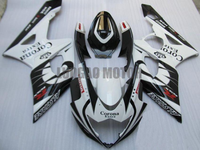 Injection Fairings kit for SUZUKI GSXR1000 GSXR-1000 2005 2006 GSXR 1000 05 06 #Body cover gsxr1000 05-06 tank #Corona Extra #g2j41 white