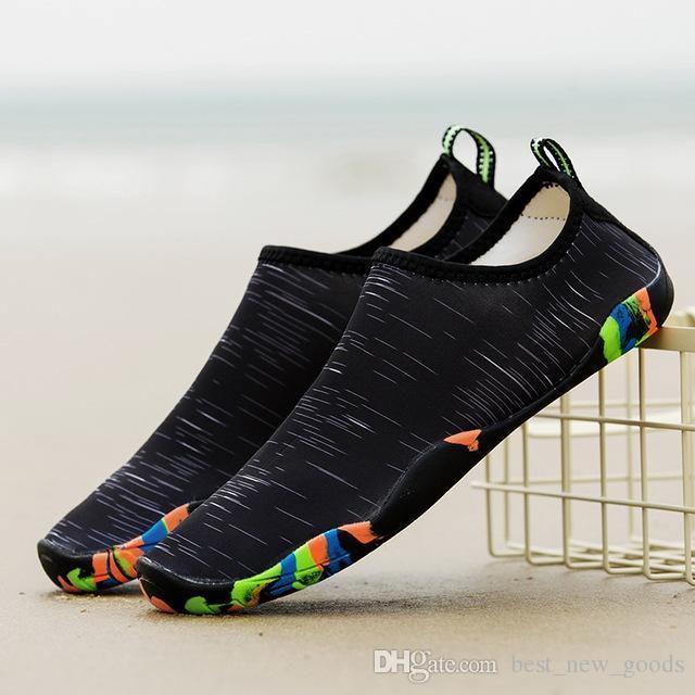 asker yeşili Erkekler Kadın unisex nötr Aqua Yüzme Ayakkabı Yumuşak Spor Kayma-Su Ayakkabı Plaj Balıkçılık Nefes Yaz