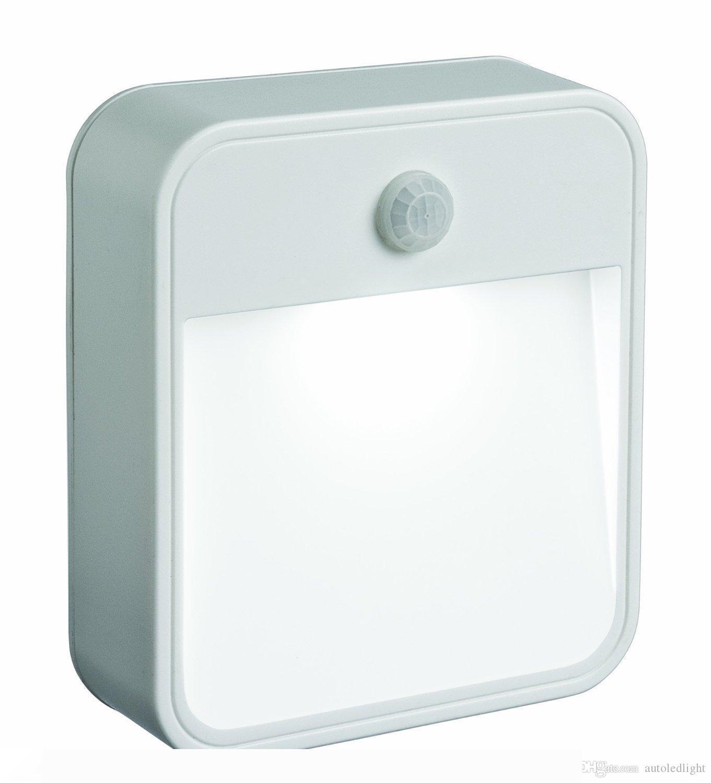 inteligente de la luz - controlada LED se ilumina la noche la plaza lámpara luz del pasillo aseo dormitorio aseo corporal pared del sensor