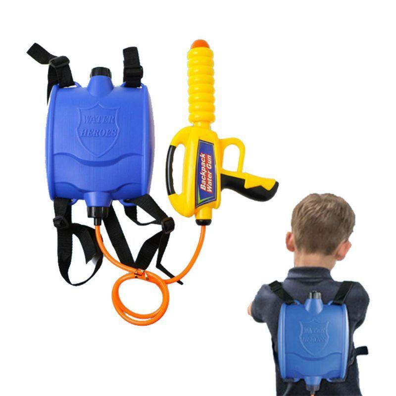 Water Gun Backpack Super Soaker Water Blaster Pump Squirt for Kids Girls Long Range Large Capacity with Tank Outdoor Toys Q6PD Y200728