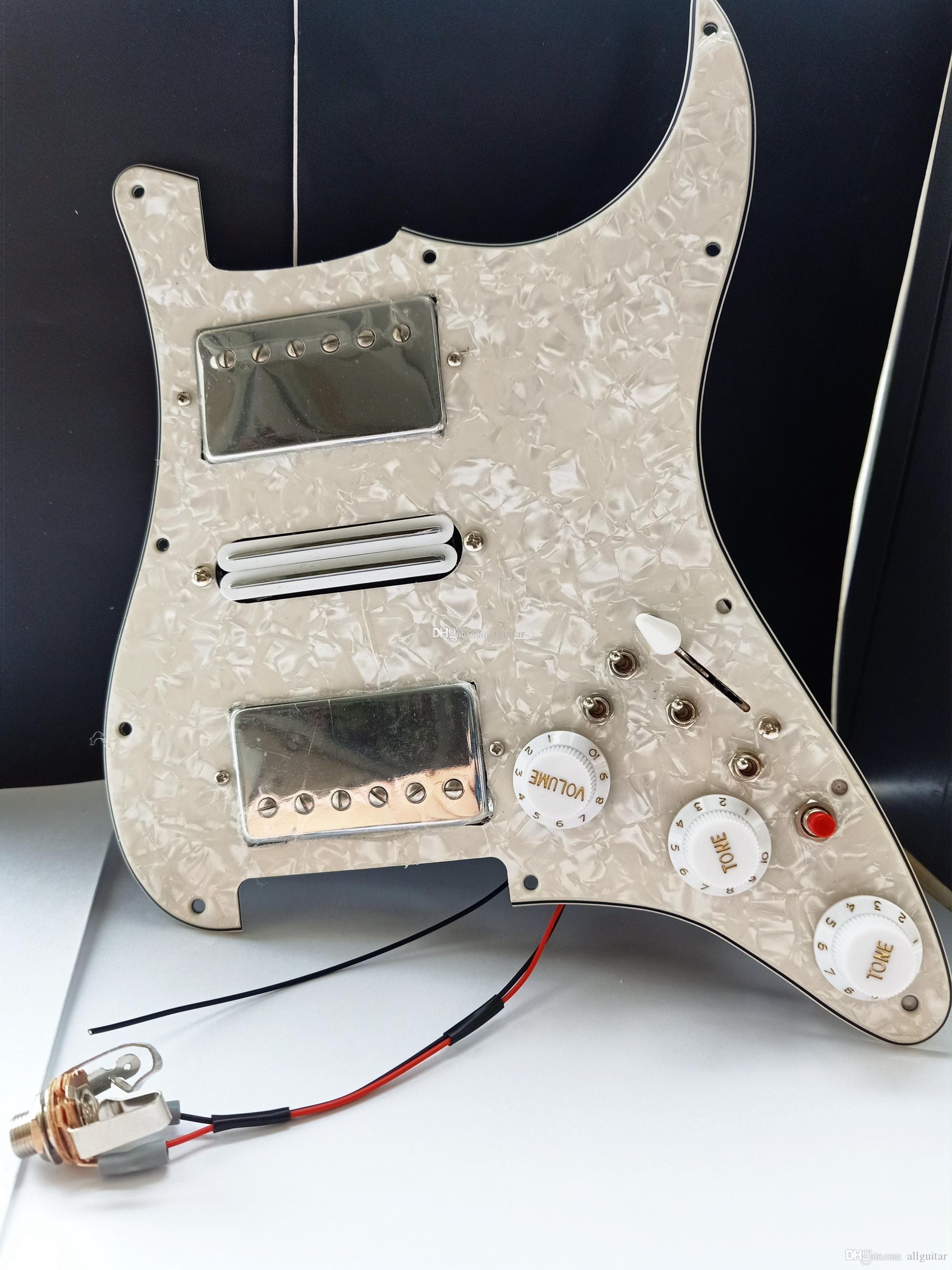 OEM متعددة الوظائف ST HSH Humbucker بيك اب بيك اب غيتار pickguard الأسلاك مناسبة لسانت الغيتار 20 نمط مجموعات