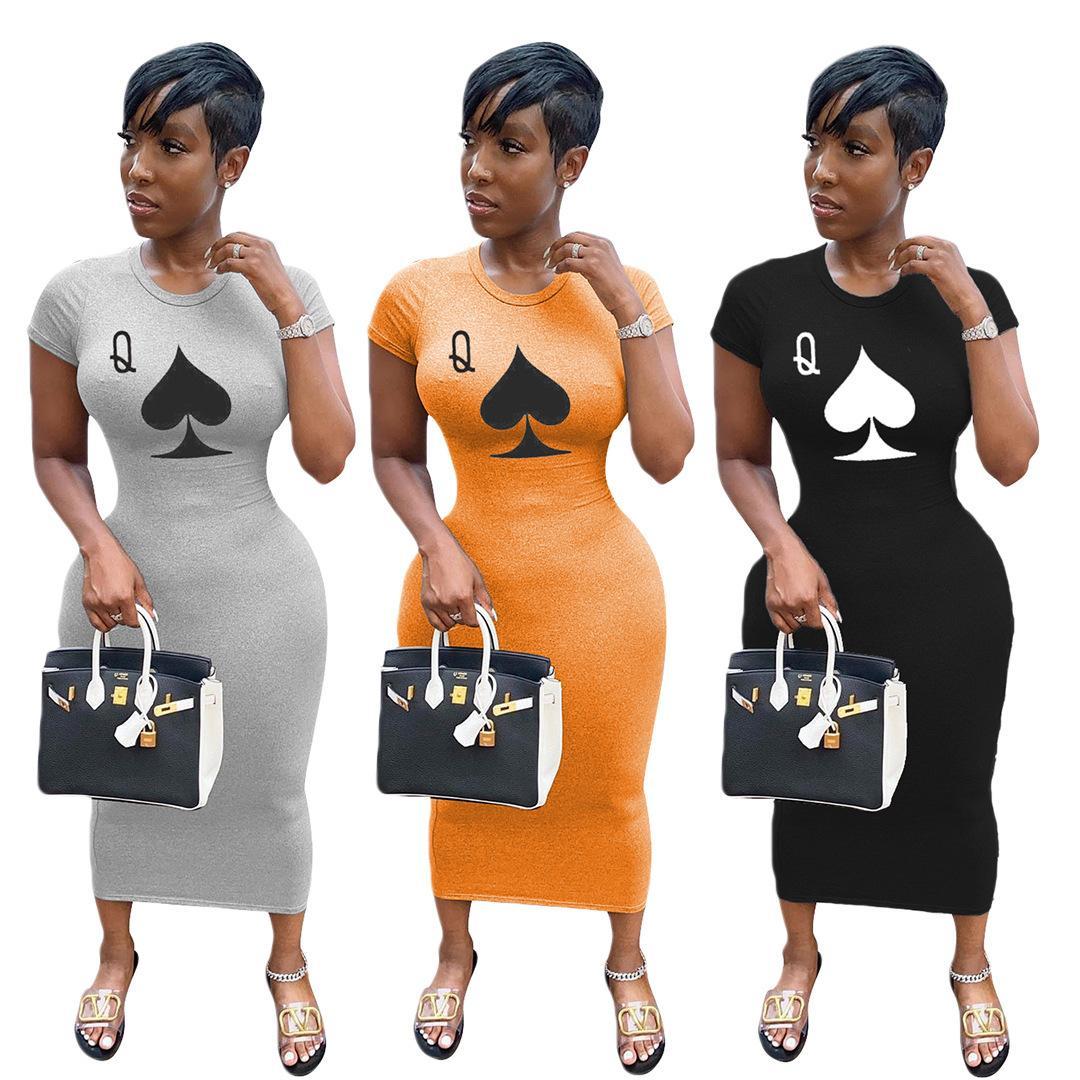 Женская одежда Осень 2021 Печатная одежда для печати Одежда BodyCon Юбка халат Longue Femme Maxi Платья 'Комбинезон