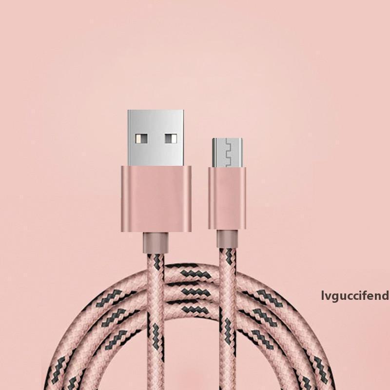 Cables cable del cargador de línea de datos 1M Micro V8 USB cable de carga Hemos Android para Samsung S8 Edge