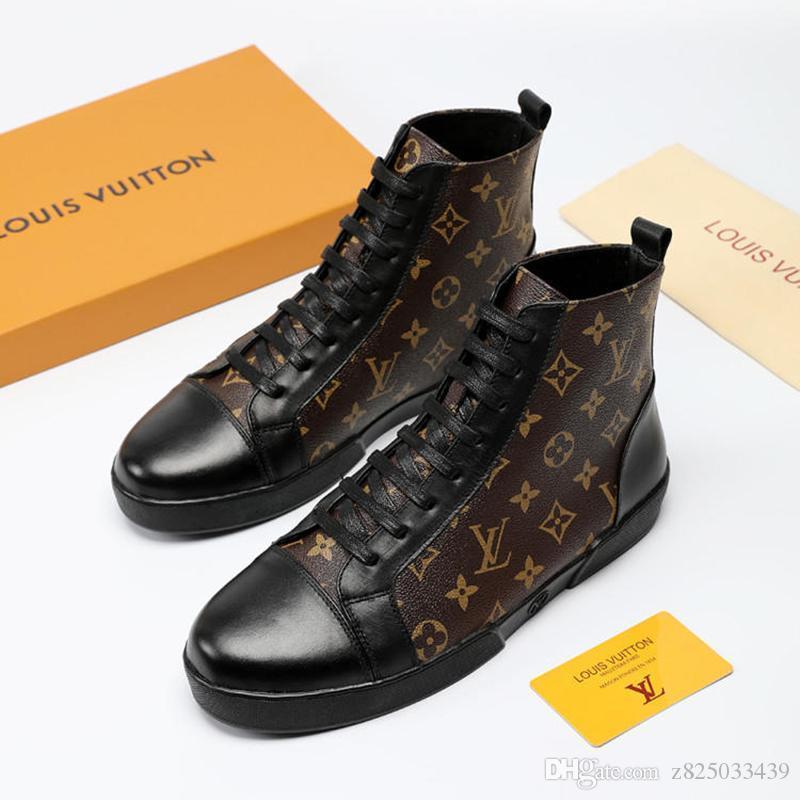 Kış Tasarım Erkek Ayakkabı Moda Çizme Dövme Sneaker Boot Lüks Stil Chaussures Erkekler Vintage İçin Hommes ile Menşei Kutusu Casual Ayakkabı dökün