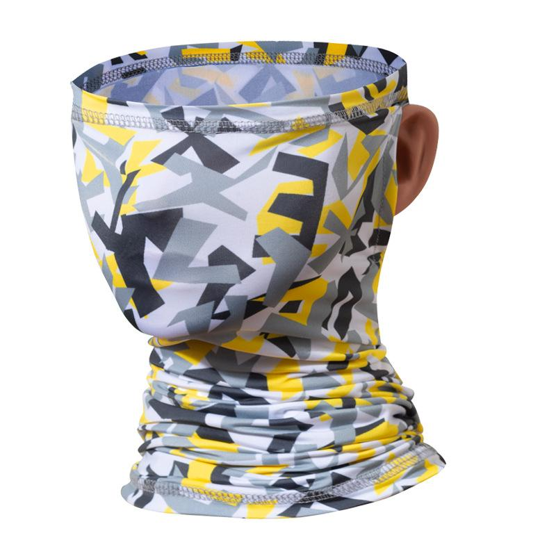 Ice Magic Cycling Face Gaiter Bandana Outdoor Hiking Fishing Scarf Earloop Windproof Scarves Sun Protection Sports Headbands