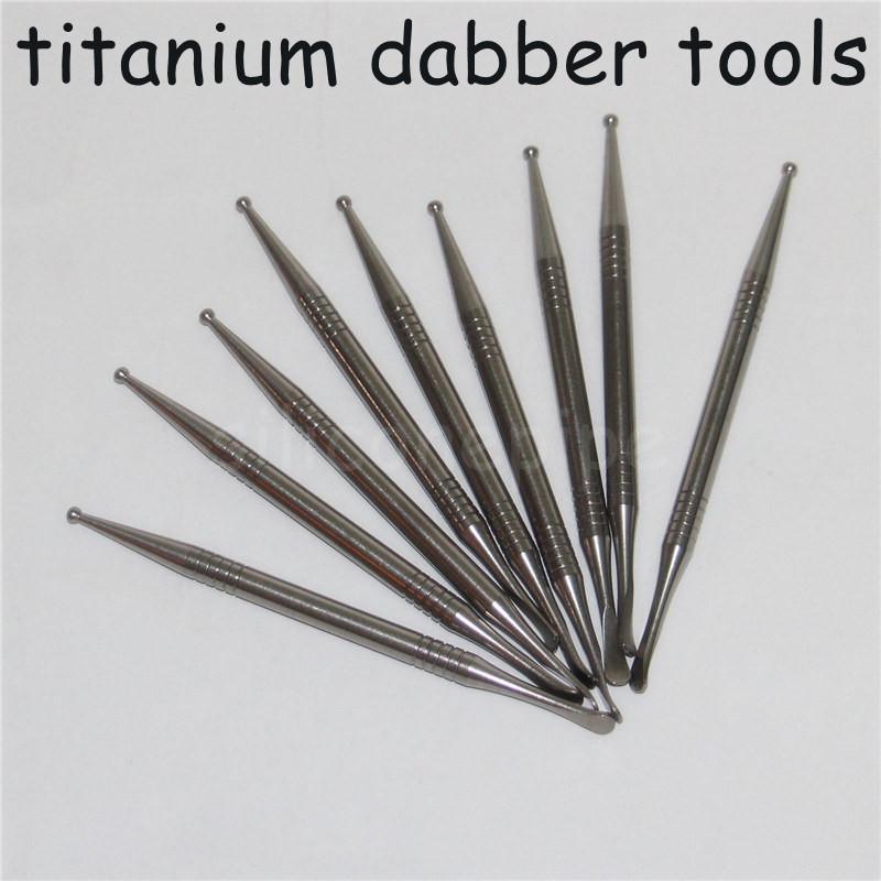 Концентрат Gr2 Titanium Dabber маслом высокого качества воска Инструмент Skillet Прочный Ti Nail Dab устойчивы к коррозии титановые инструменты Dabber