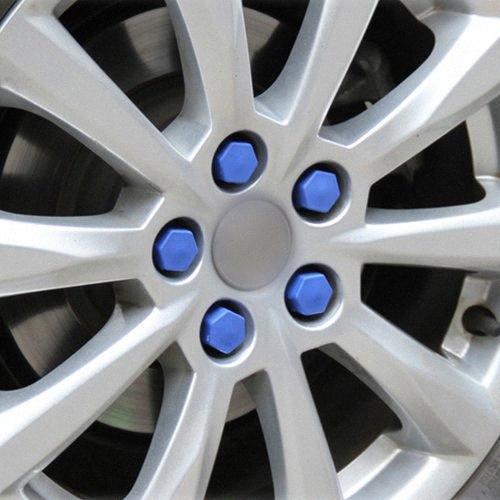 Nueva cubierta de la rueda de coche de silicona 17/19/21 Eje Tuerca Decoración Cap a3 a4 a6 a8 Q3 Q5 Q7 20pcs 3D Protección 7fjc #