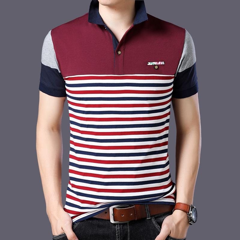 Лучшие продавцы Casual 23 Дизайн Стиль Марка 95% хлопок Лето POLO SHIRT Короткие рукава Мужчины Мода Плюс Размер M-5XL 6XL Топы Тис Одежда