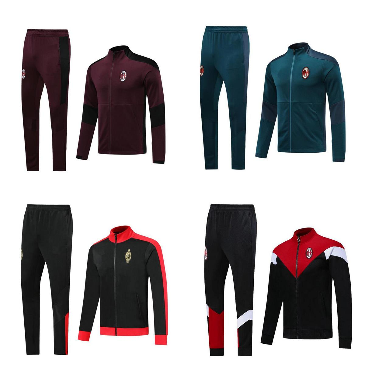 2020 2021 AC PIATEK KAKA Soccer training suit jacket survetement 19 20 maillot de foot IBRAHIMOVIC mIlan football Tracksuit