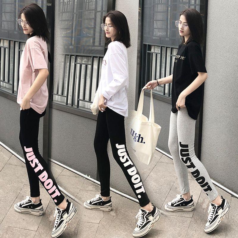 OzYyM Новый натяжные небольшие корейском стиле тонкие лосины внешний износ Pencil женские ноги Плотный карандаш черные брюки девять очков случайный студент брюки