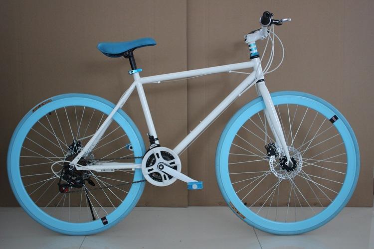 DIY del fabricante y mayorista de bicicletas de 26 pulgadas variable del freno de disco Velocidad Dead-Fly de Hombres y Mujeres en color de bicicletas inversa trasera para bicicleta