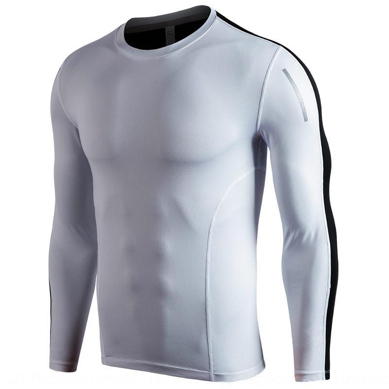 Açık Yeni spor elastik pıhtı JF64u çalışan FuHDo eğitim uzun kollu spor takım elbise erkekler yüksek yetenek sıkı çabuk kuruyan giysiler giyim