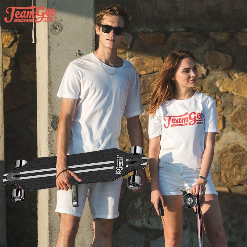 التزلج لوح التزلج الكهربائي ل Teamgee H5 350W * 2 Slowboard Longboard الكبار Hoverboard Scooter مع Bluetooth
