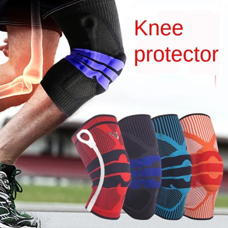 ONF03 rodilla Deportes de silicona transpirable antideslizante soporte elástico de silicona almohadillas de las patas de baloncesto montañismo gimnasio de baloncesto de la rodilla de la pierna almohadilla