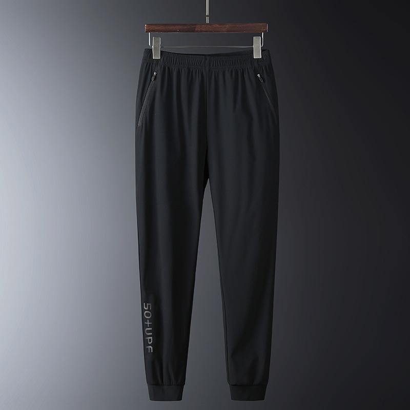 kvVnS Verão novos Calças e calças de secagem rápida ao ar livre de gelo de seda pesca respirável caminhadas elástica calças dos homens e mulheres correndo calças