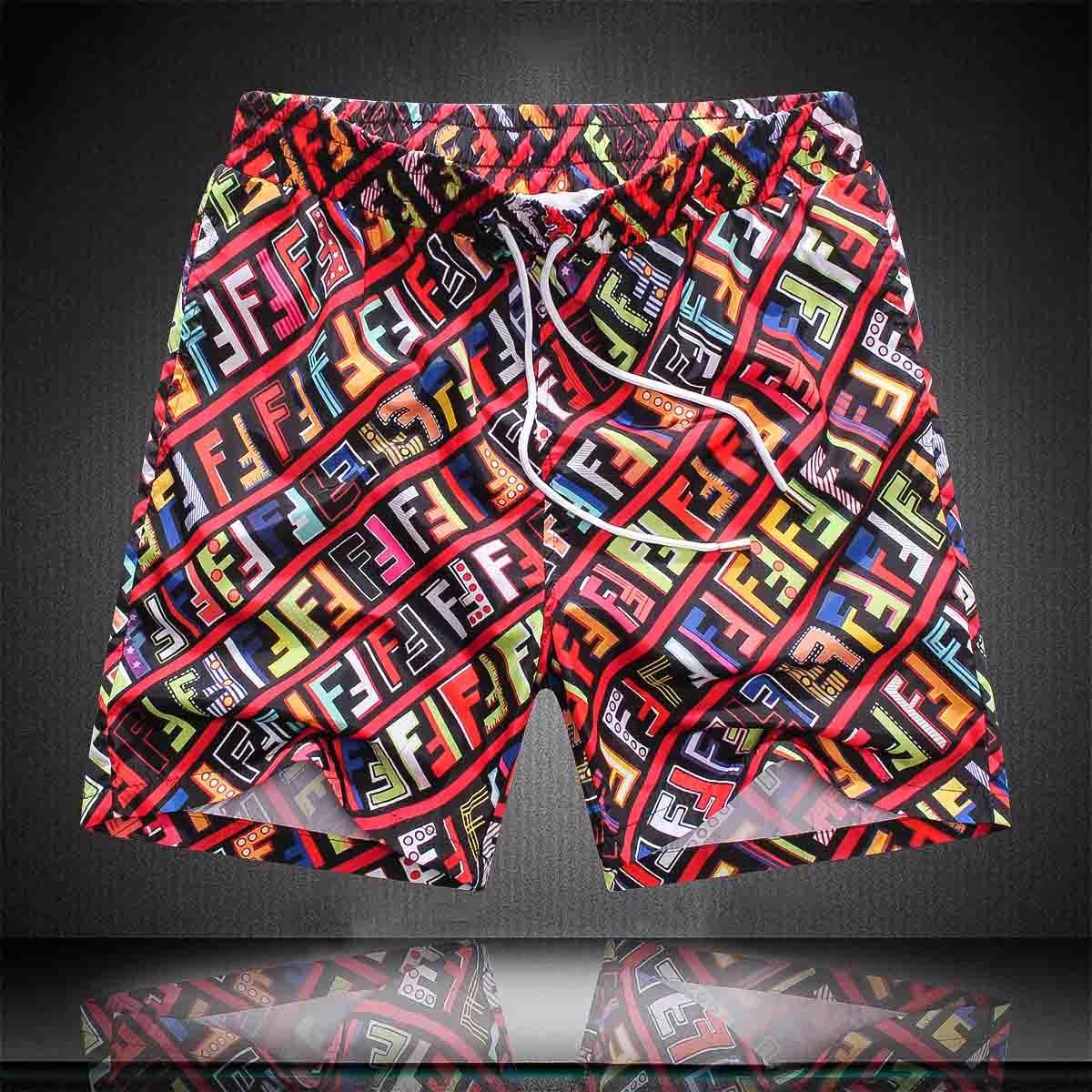 pantalones cortos de verano a prueba de agua y de secado rápido del traje de baño traje de baño de los hombres blancos negros de la medusa cortocircuitos de la playa de los hombres de los hombres del diseñador de trajes de baño