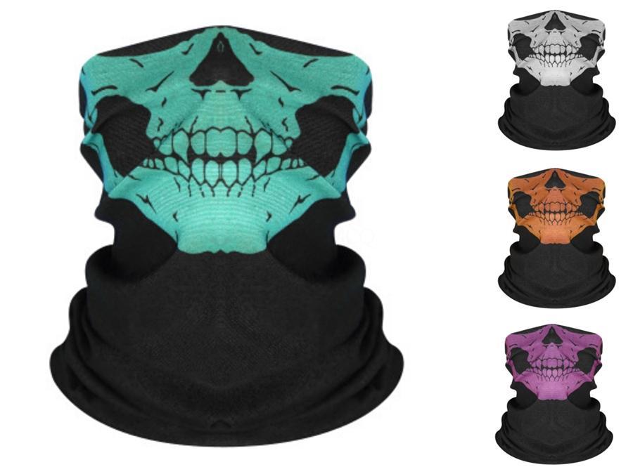0YPnV Kaya PUNK Bayan Bisiklet Bisiklet Balıkçılık Yarım Yüz Fonksiyonlu 3D Sihirli Kafatası Eşarp Kafatası Caps Erkekler Kafa bandı # 421 İçin Maske