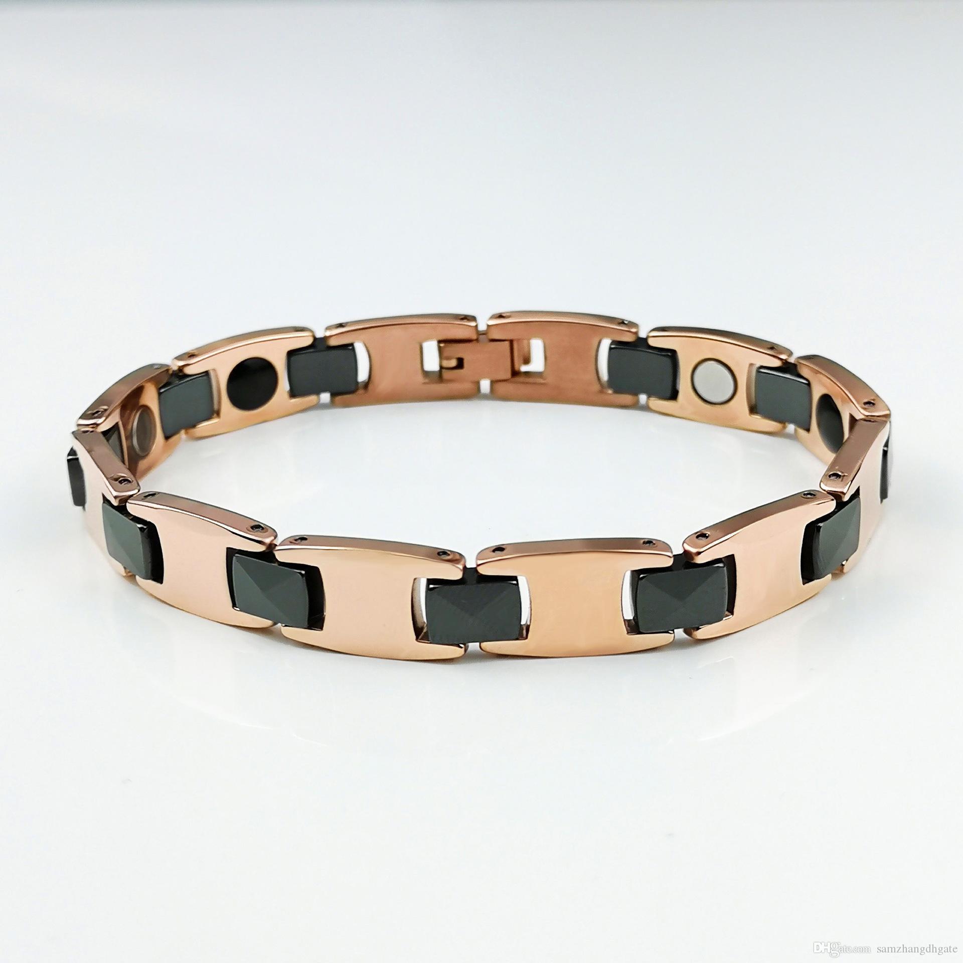 G47 Brand new Top quality men's tungsten bracelets tungsten magnetic bracelets tungsten ceramic magnetic bracelets power balance jewelry GZ