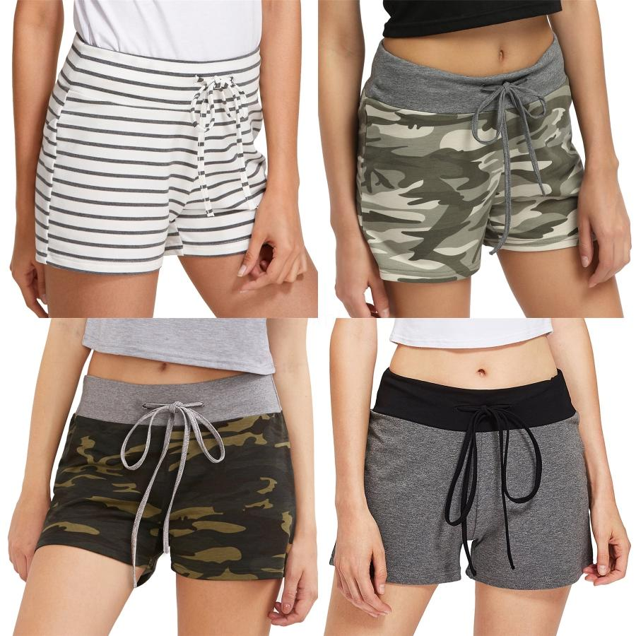 Shorts Frauen-Sommer-lose beiläufige kurze Hosen Neue 2020 koreanische Art-Buchstabe-Stickerei-All-Spiel High Waist Shorts Feminino P756 # 3391