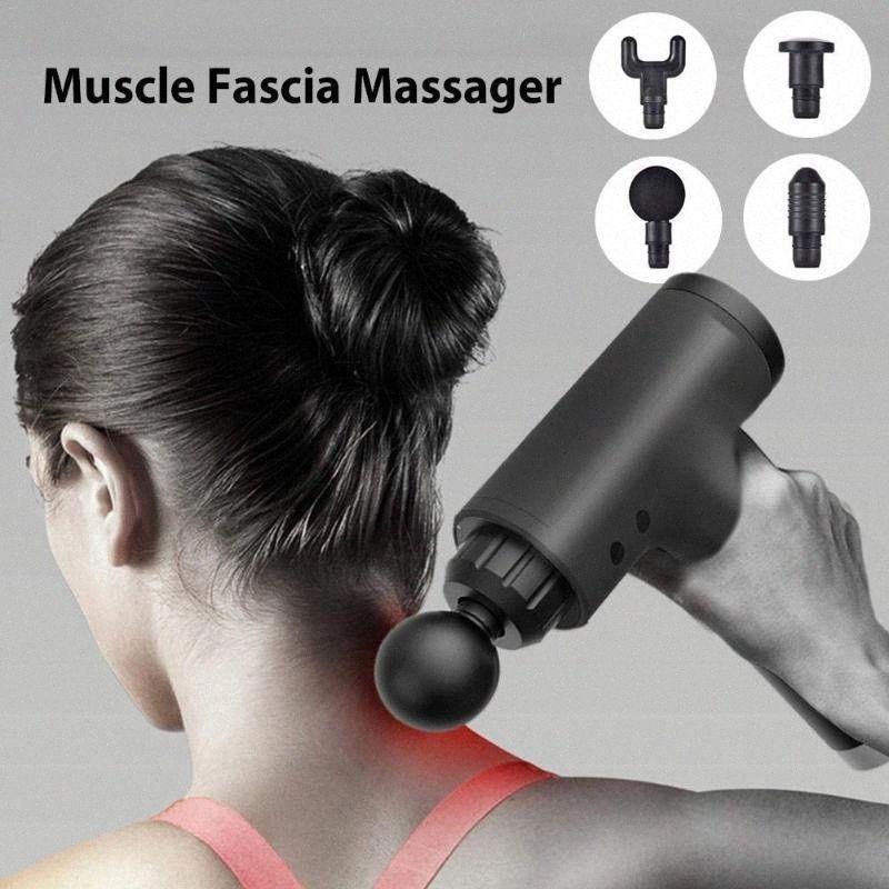 La terapia di massaggio Guns 6 Rapporti Massager del muscolo Dolore Sport della macchina di massaggio relax corpo dimagrante Relief con 4 teste VNSD #
