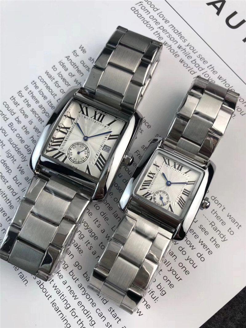 الجملة الرجال النساء أزياء ووتش الفولاذ المقاوم للصدأ حركة الكوارتز تصميم الساعات عارضة اللباس الساعات هدية ساعة اليد للزوجين ساعة MONTRE