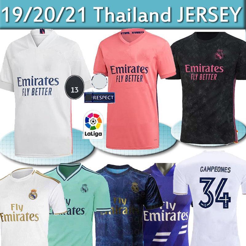 ريال مدريد بالقميص 20 21 لكرة القدم جيرسي أخطار SERGIO RAMOS 34 Campeones camiseta قميص كرة القدم الزي الرسمي للرجال + الأطفال عدة مجموعات 2020 2021