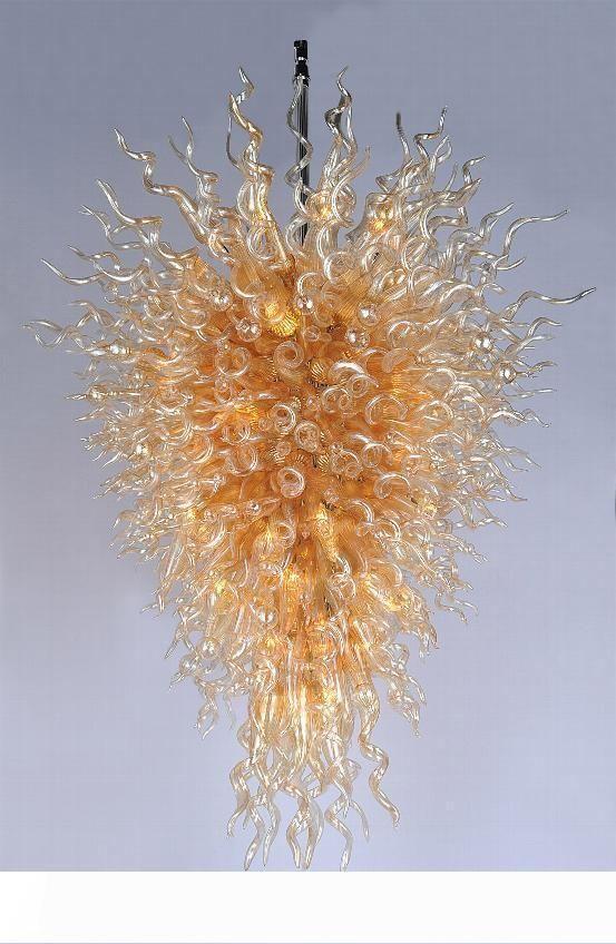 Ambra fatti a mano Lampadari di vetro Certificato di Garanzia Murano Glass Chandeliers Art Decor Moderna LED Hang Vetro CE UL Blown