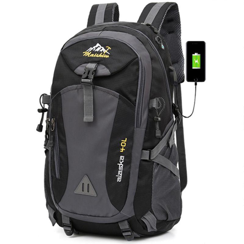40L Unisex Travel Pack Sporttasche Pack Outdoor Bergsteigen Wandern Klettern Camping Rucksack Rucksack wasserdicht Männer für männliche
