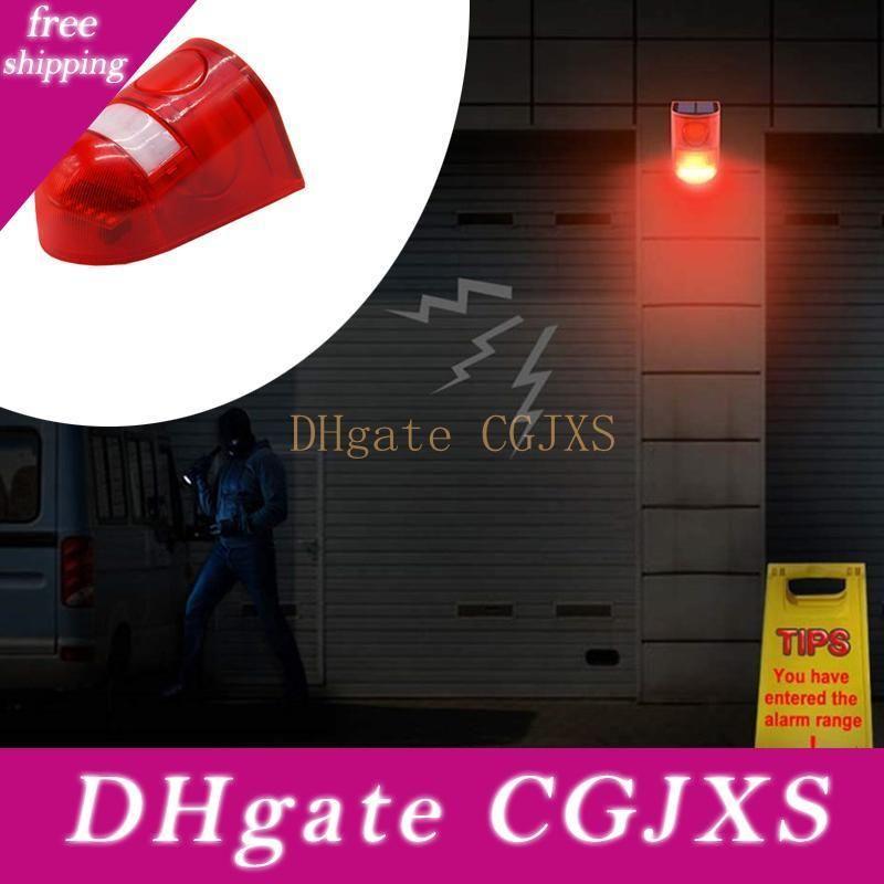 Alarm Işık Led Güneş Işık Alarm Lambası 110dB Uyarı Ses Kırmızı Işık IP65 Su geçirmez Hareket Sensörü Işıklar Gizli Yeri Duvar Dikkat 6led
