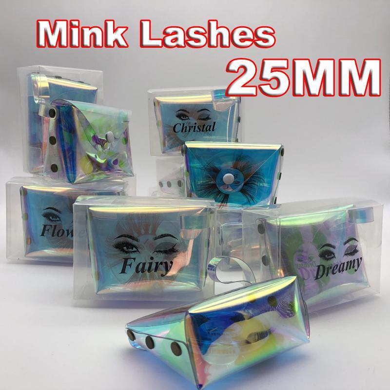 2020 neue 3D-Mink Wimpern 25MM 5d Mink Wimpern dick lange falsche Wimpern Dramatische Wispy Lashes Volume Lashes Mink Lashes