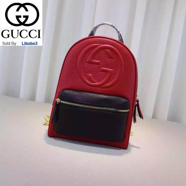 libobo3 New Rucksack 431570 rot mit schwarzen Frauen Handtaschen Top-Griffe Schultertaschen Totes Abend Umhängetasche