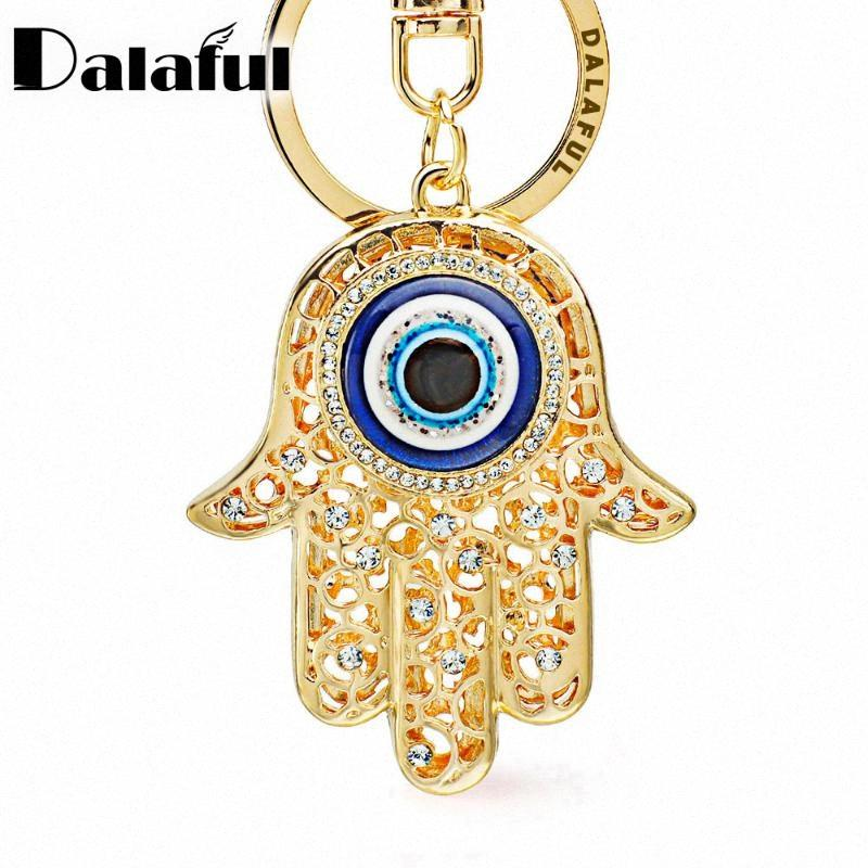 Lucky Hamsa Fatima Hand Eyes Keychains Charm Amulet Purse Bag Buckle Pendant For Car Keyrings Key Chains Holder Women K236 Ciji#