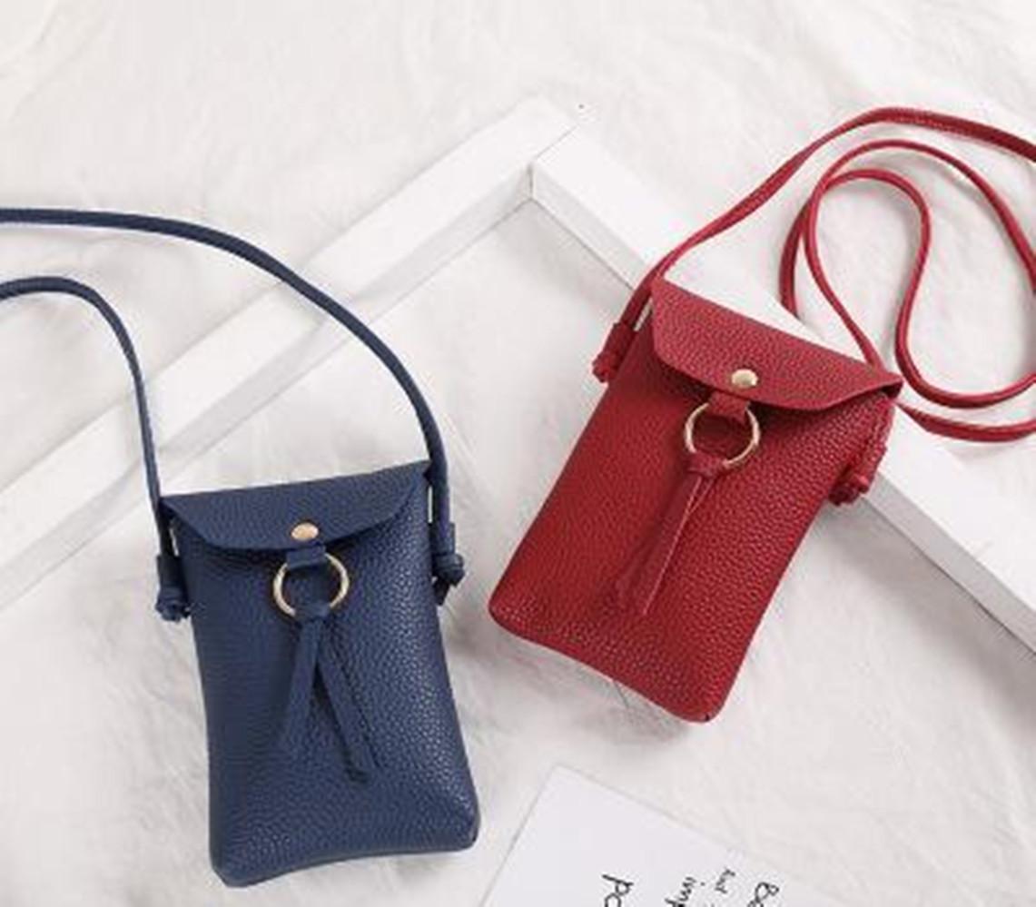 Mini Crossbody del bolso de hombro de las mujeres de alta calidad de cuero del teléfono celular del bolsillo de las señoras del monedero del embrague del cerrojo de la manera de los bolsos Mujer