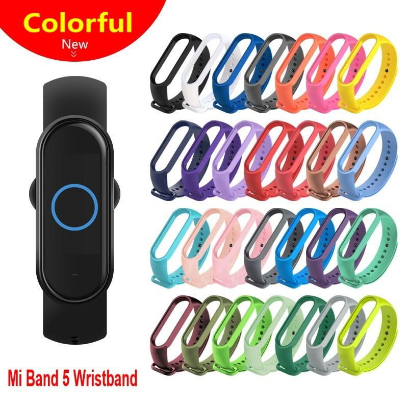 For Xiaomi Mi Band 5 Bracelet Watch Band Waterproof Smart Watch Wrist Band Strap Fitness Replacement Silicone Wrist Strap
