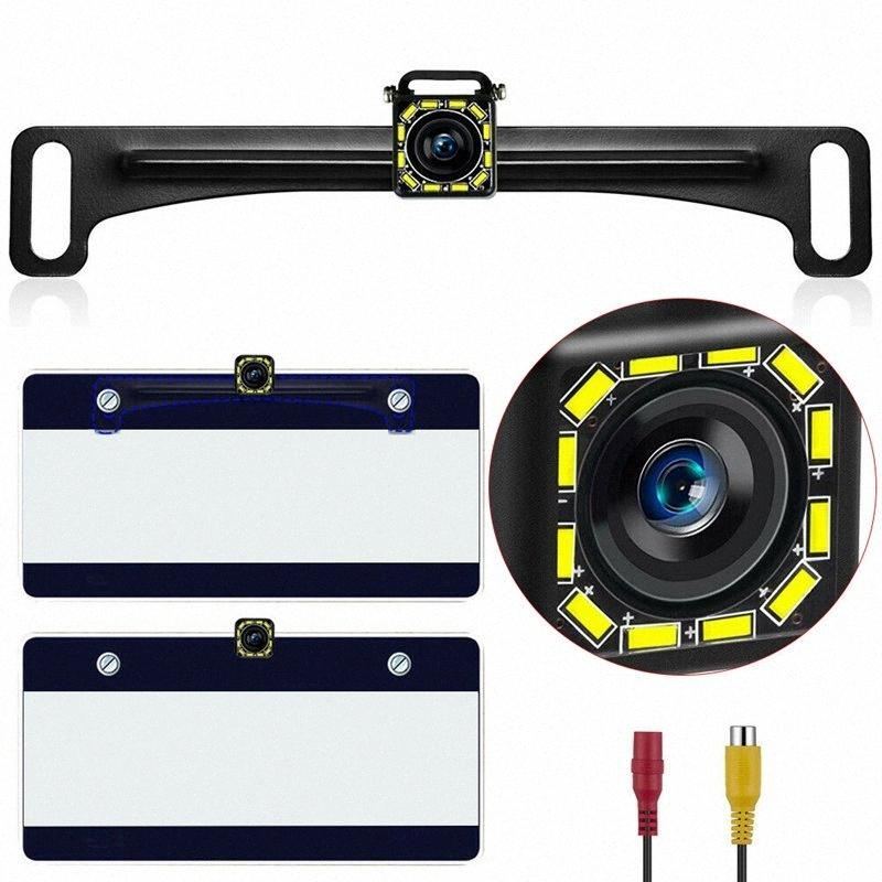 New Car License Plate Backup Camera Rear View Reverse Parking Night Vision DIY Kit L8nW#