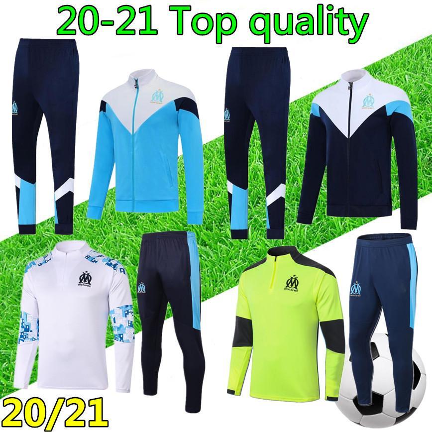 20 21 الرجال مرسيليا تدريب كرة القدم دعوى أوم كرة القدم رياضية سستة سترة 2020 2021 أولمبيك مرسيليا لكرة القدم رياضية survetement
