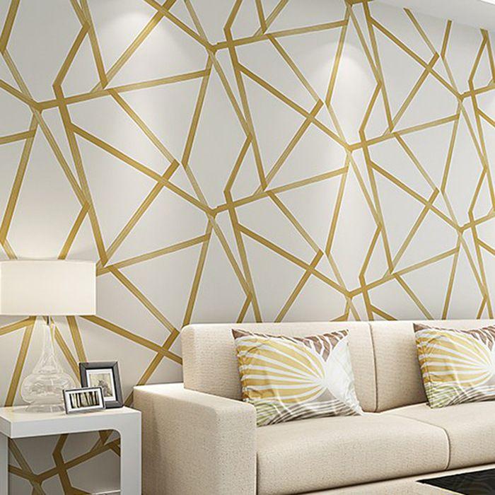 Yatak odası Walls için Duvar Kağıdı Rulo mavi Wallcovering Lüks Çiçek Duvar kağıdı dokuma 10m Özet Modern Stil ağır olmayan