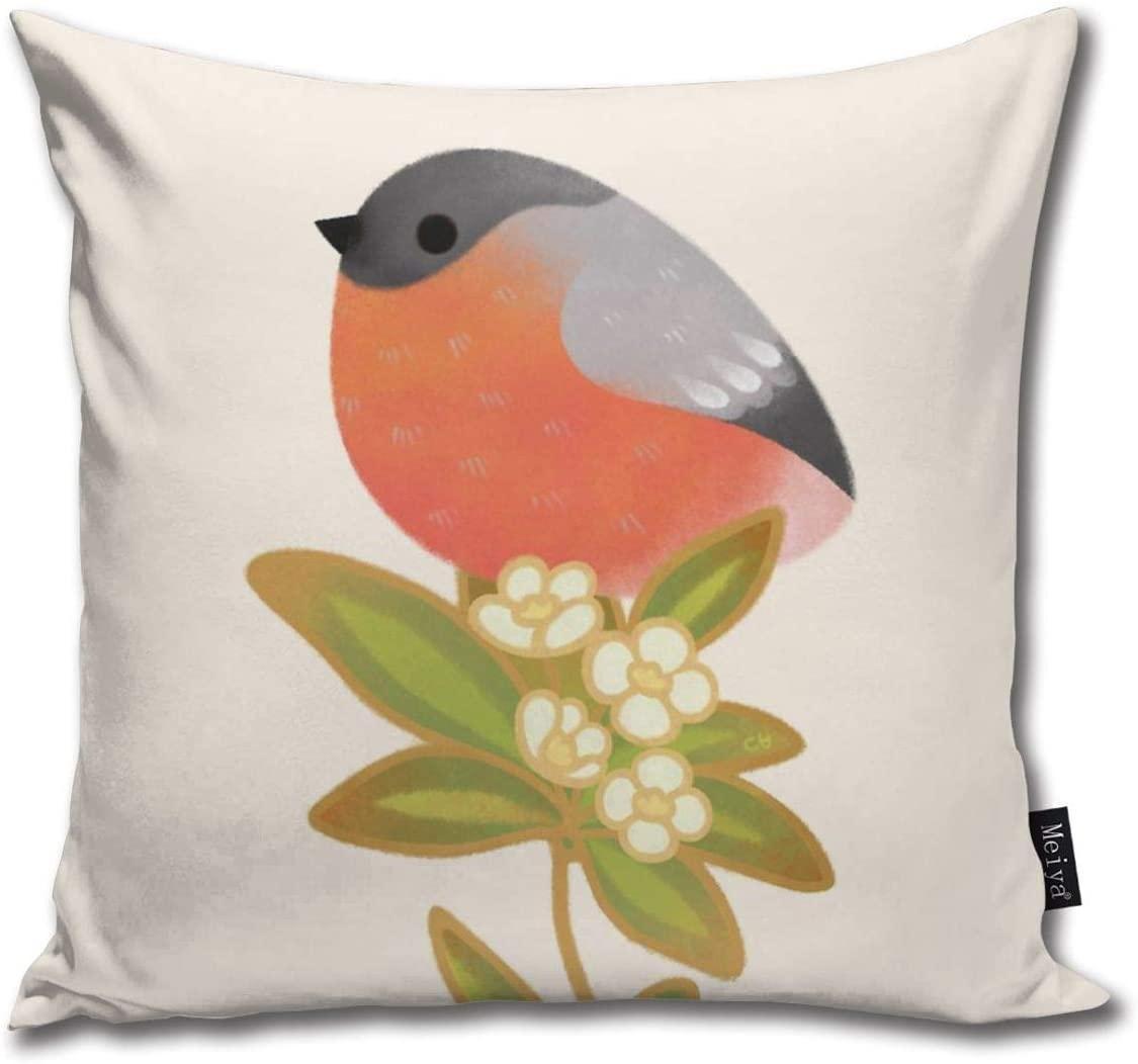 BLUETOP bayağı şakrak kuşu 2 Yastık Kapak, 18 x 18 inç Kış Tatil Evi pamuk Yastık Koltuk Couch için Kılıf Dekorasyon