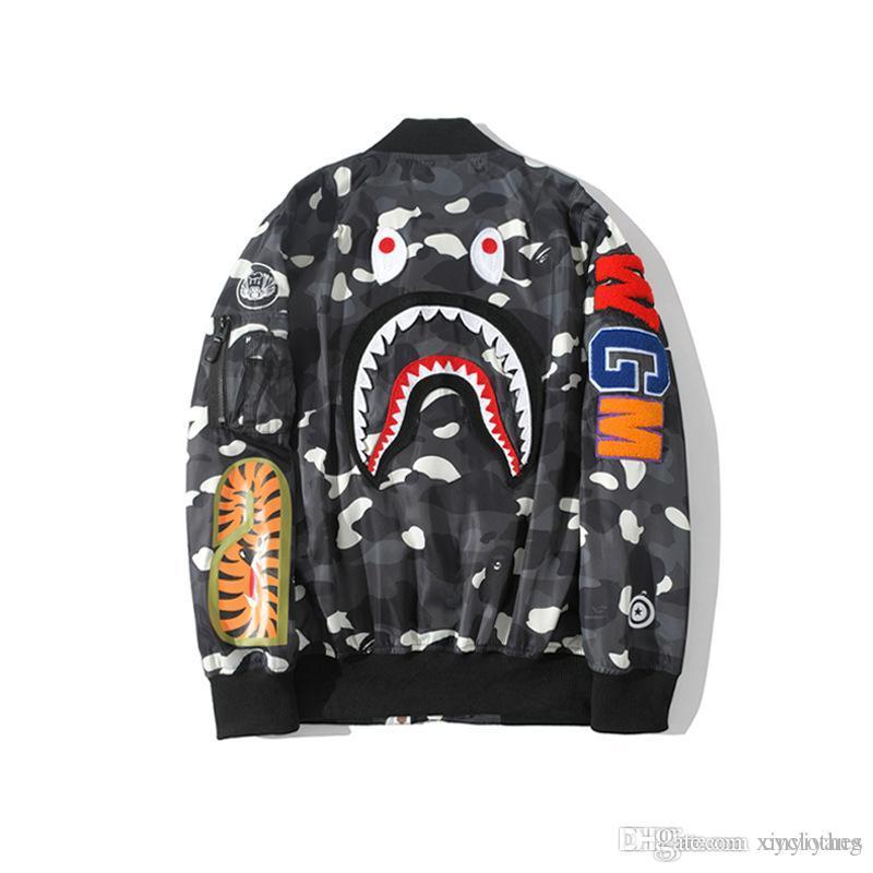 Autumn New Lover Black Camo Casual Baseball Shirt Jacket Brand Designer Sports Windbreaker Hip Hop Casual Jacket